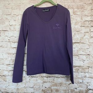 Hummel Sz L Shelly Long Sleeve Tee Back Design